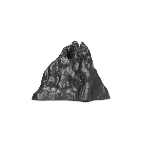 Ferm Living Stone Kerzenhalter 6,8cm Schwarz Aluminium