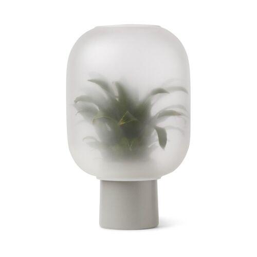 Gejst Nebl Blumentopf mit Milchglas groß Ø25cm grau