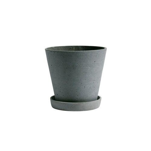HAY Flowerpot with saucer Blumentopf L grün