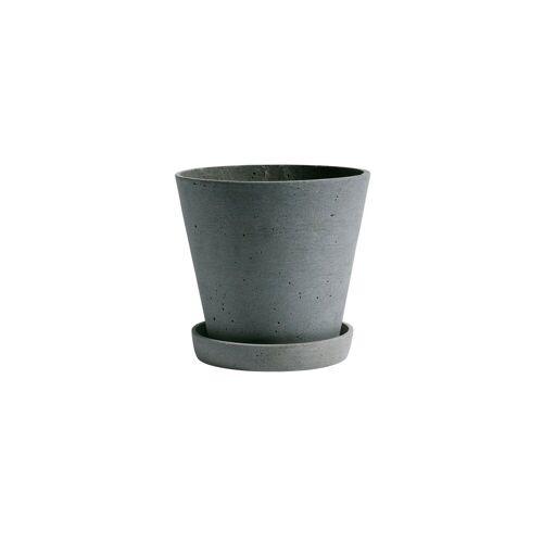 HAY Flowerpot with saucer Blumentopf M grün