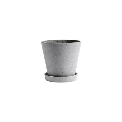 HAY Flowerpot with saucer Blumentopf S grau
