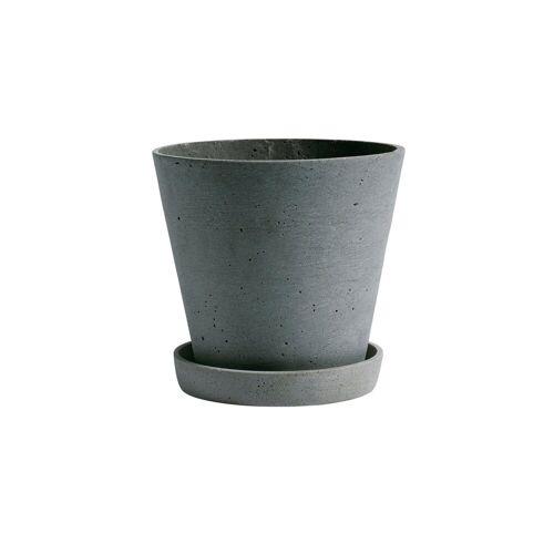 HAY Flowerpot with saucer Blumentopf XL grün