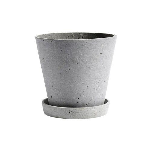 HAY Flowerpot with saucer Blumentopf XXL grau