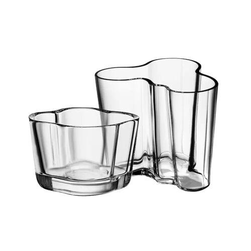 Iittala Alvar Aalto Vase und Windlicht Klar