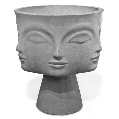 Jonathan Adler Dora Maar Blumentopf auf Fuß grau