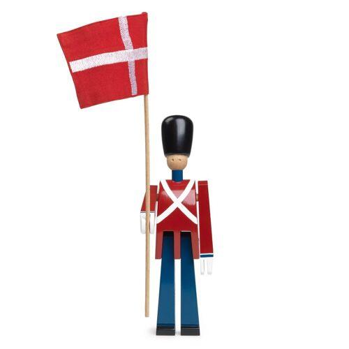 Kay Bojesen Denmark Kay Bojesen Fahnenträger mit Stofffahne 22cm