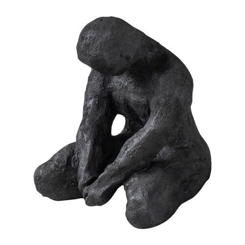 Mette Ditmer Art piece meditierender Mann 15cm Black