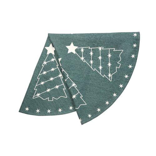 Pluto Granar Weihnachtsbaumteppich grün