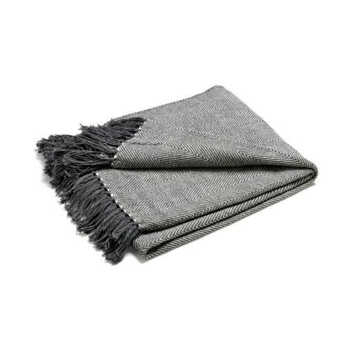 ETOL Design Fishbone Plaid grau