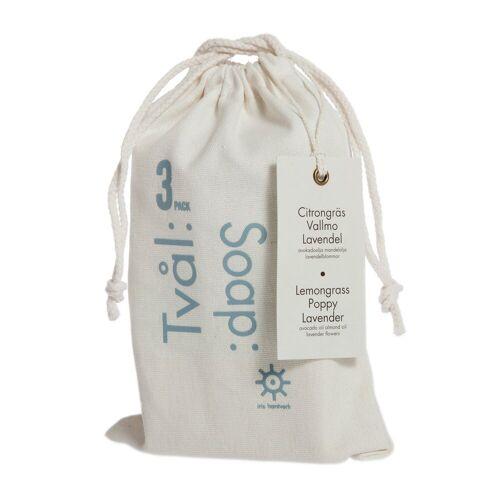Iris hantverk Seife 3er Pack Zitronengras-Mohn-Lavendel