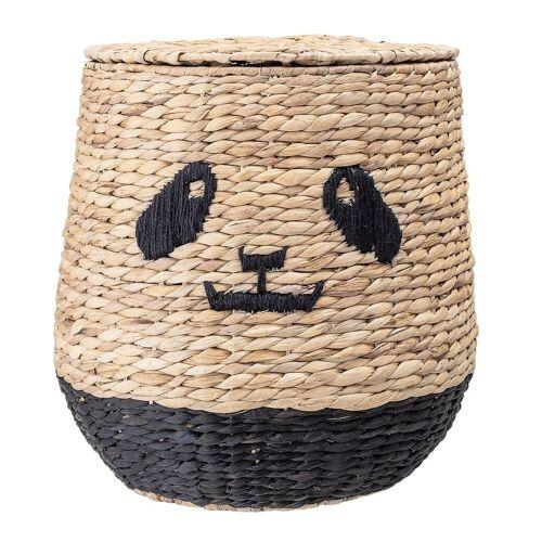 Bloomingville Korb mit Deckel Panda