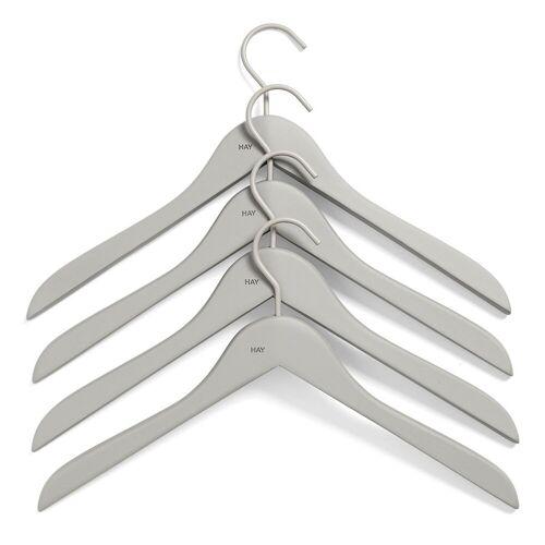 HAY Kleiderhaken slim 4er Pack grau