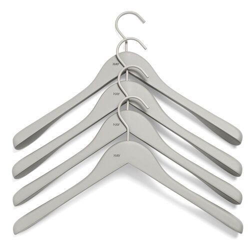 HAY Kleiderhaken wide 4er Pack grau