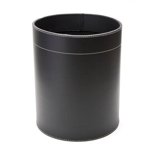 Ørskov Leder-Papierkorb schwarz