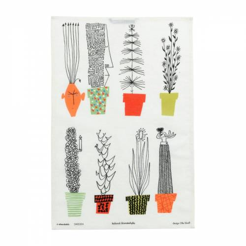 Almedahls Italienisches Blumenregal Geschirrtuch 47 x 70cm Multi