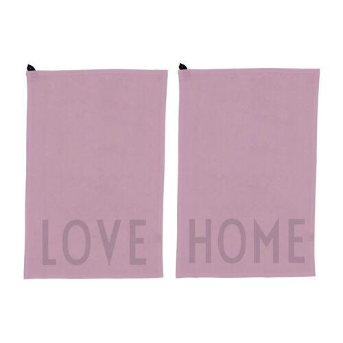 Design Letters Favorit Geschirrtuch 2-teilig Love-home-lavender
