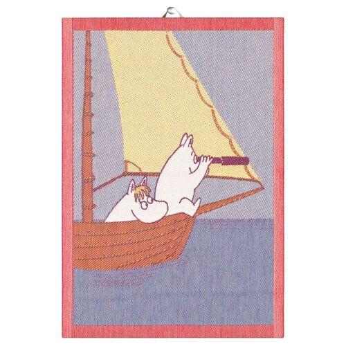 Ekelund Linneväveri Sailing Geschirrtuch 35 x 50cm blau