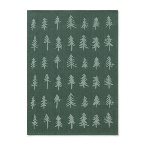 Ferm Living Weihnachts-Geschirrtuch Dark green