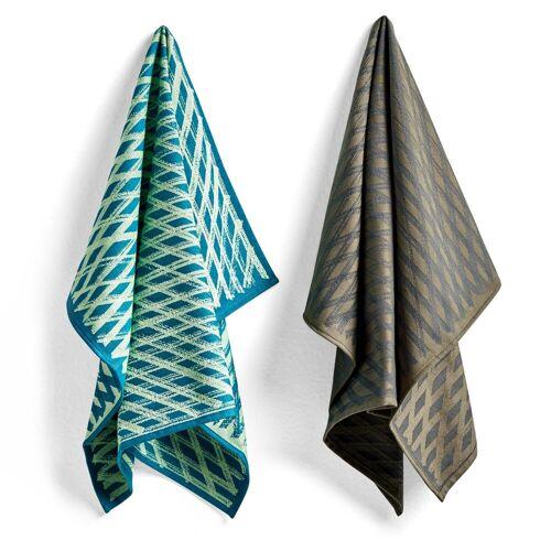Hay Tea Towel Marker diamond Geschirrtuch 2er Pack No 3