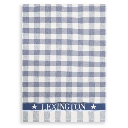 Lexington Icons Checked Terry Geschirrtuch 50 x 70cm Blue-white
