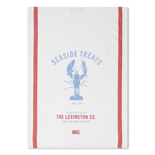 Lexington Lobster Twill Geschirrtuch 50 x 70cm White-red-blue