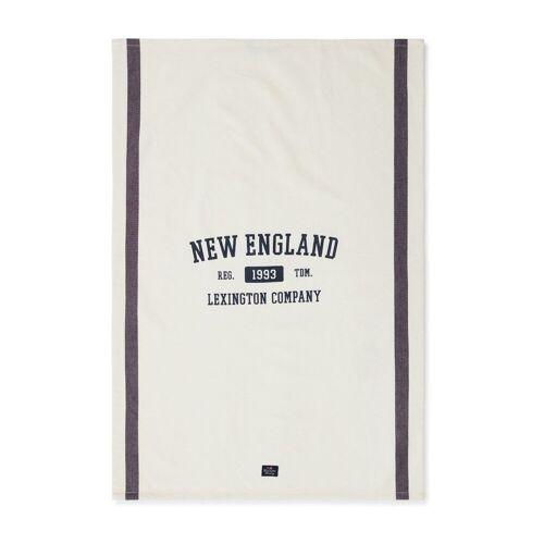 Lexington New England Cotton Twill Geschirrtuch 50 x 70cm Off White-blue
