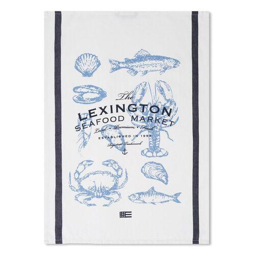 Lexington Seafood Twill Geschirrtuch 50 x 70cm White-blue