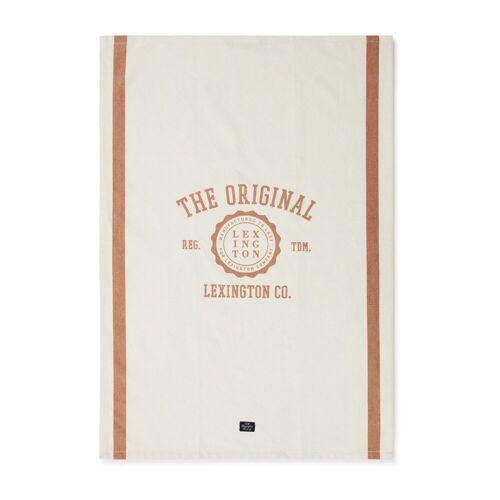 Lexington The Original Cotton Twill Geschirrtuch 50 x 70cm Off White-brown