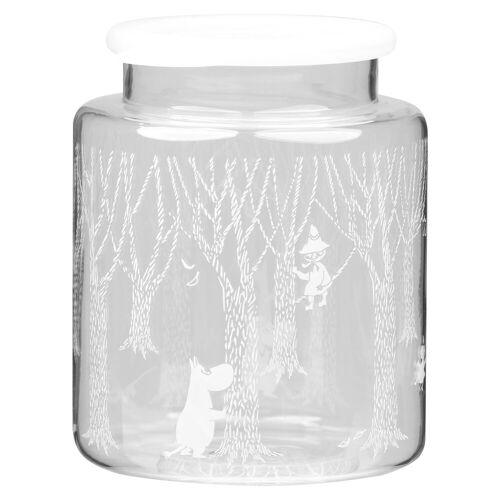 Muurla In the Woods Glasdose mit Silikondeckel 17cm Klar-weiß