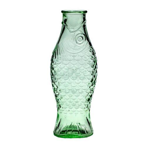 Serax Fish & Fish Glasflasche 1 l Green