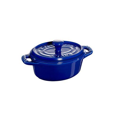Staub ovaler Minitopf 0,2 l blau