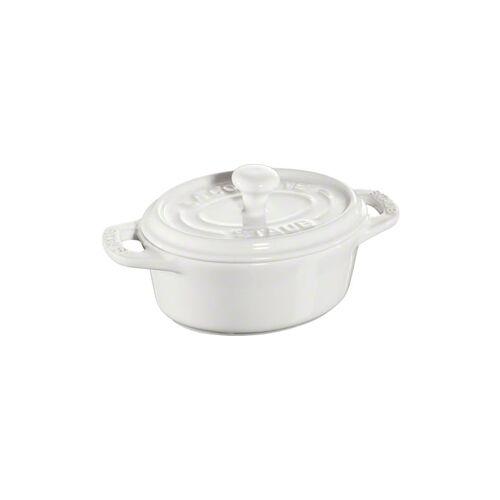 Staub ovaler Minitopf 0,2 l weiß