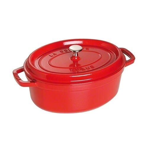 Staub ovaler Topf aus Gusseisen 4,2 l rot