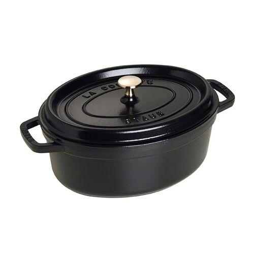 Staub ovaler Topf aus Gusseisen 4,2 l schwarz