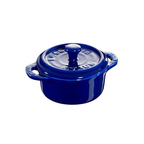 Staub runder Minitopf 0,2 l blau