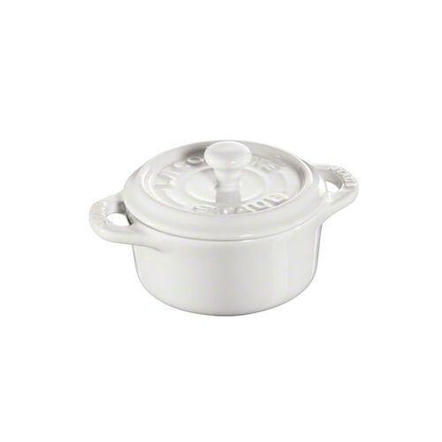 Staub runder Minitopf 0,2 l weiß