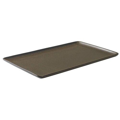 Aida Raw Teller 31,5 x 20cm Metallic brown