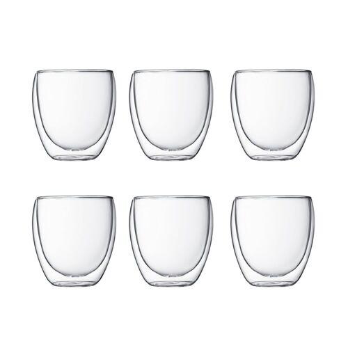Bodum Pavina doppelwandiges Glas 6er Pack 0,25 Liter