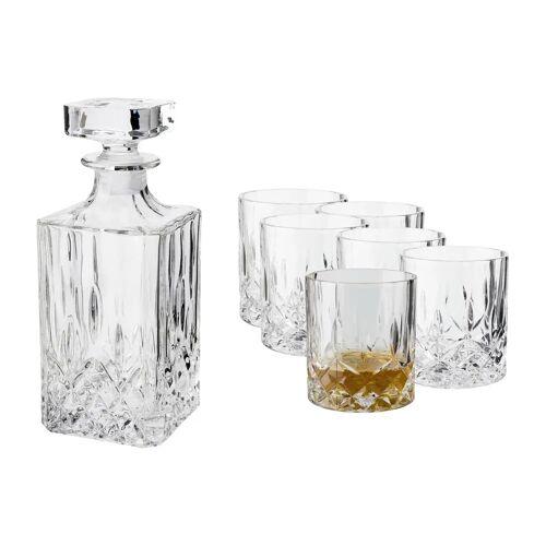 Dorre Vide Whiskeyset Karaffe und 6 st Whiskeygläser Kristallglas
