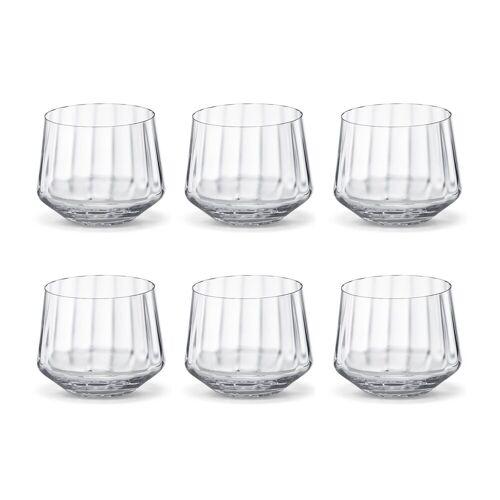 Georg Jensen Bernadotte Wasserglas flach 25cl 6er Pack Kristallin
