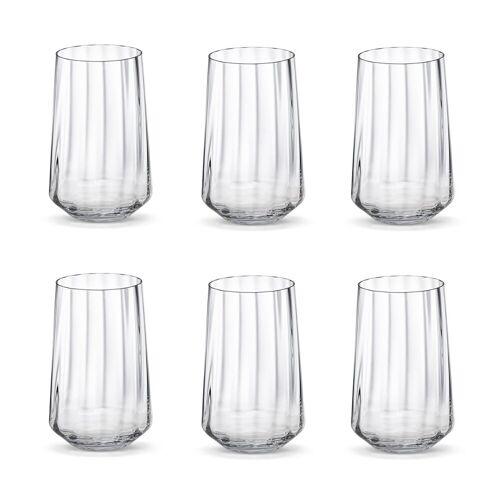 Georg Jensen Bernadotte Wasserglas hoch 38cl 6er Pack Kristallin