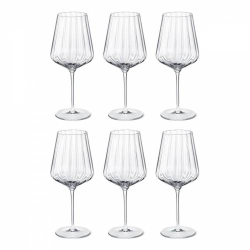 Georg Jensen Bernadotte Weißweinglas 6er Pack Kristallin