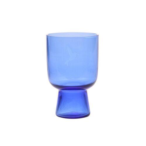 HK Living HKliving graviertes Wasserglas blau groß