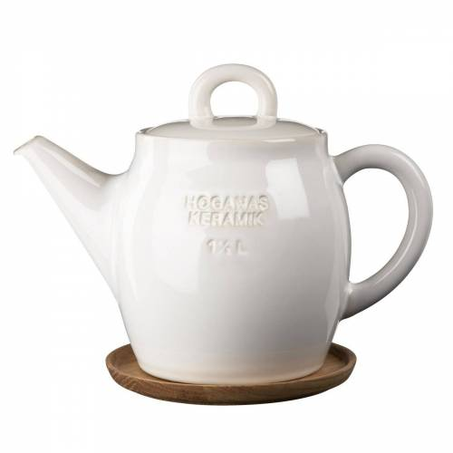 Höganäs Keramik Höganäs Teekanne weiß glänzend