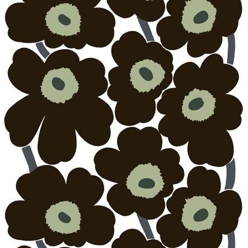 Marimekko Unikko Wachstuch-Tischdecke schwarz