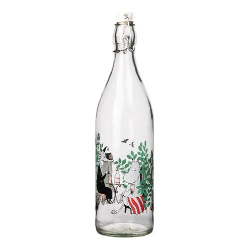 Muurla Mumin Glasflasche 1 l Day in the garden
