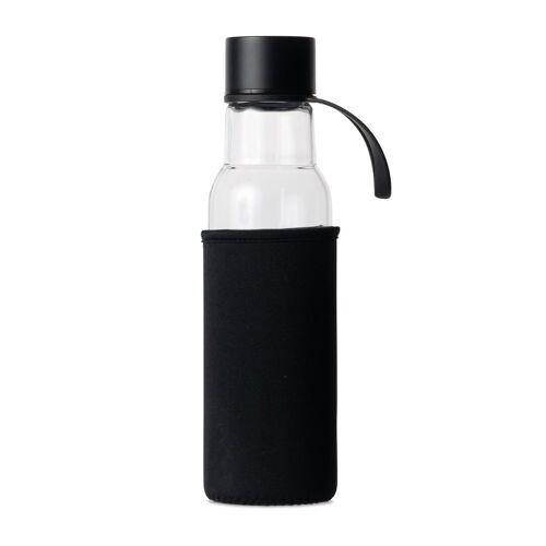 Sagaform To Go Glasflasche 60cl Schwarz