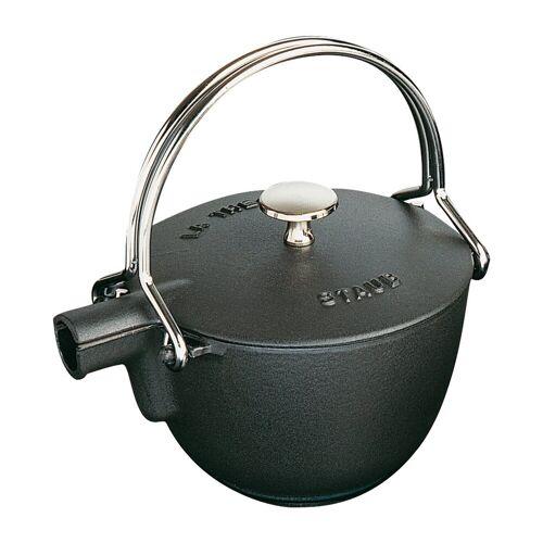 Staub Teekanne rund 1,15 L Schwarz