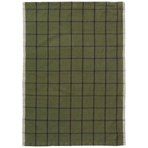 Ferm Living Hale Geschirrtuch 50x70 cm Green-black
