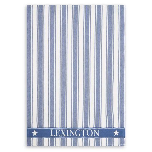 Lexington Icons Waffle Striped Geschirrtuch 50 x 70cm Blue-white